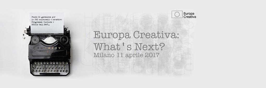 Europa Creativa: gli eventi di Aprile