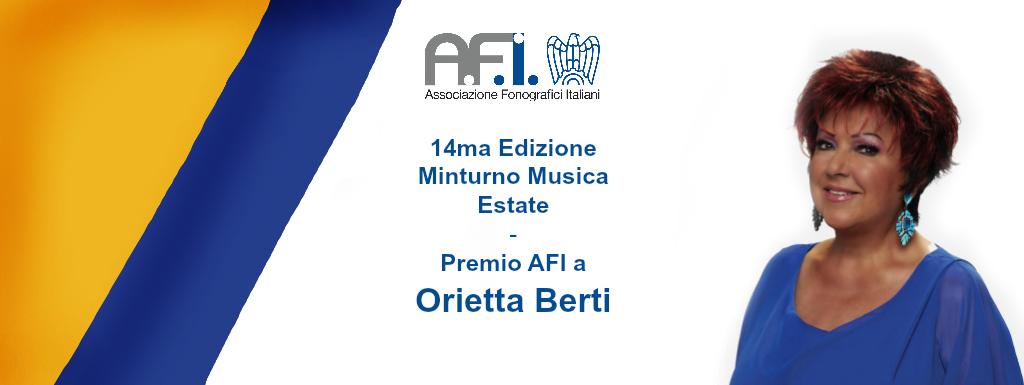 14ma Ed. Minturno Musica Estate – Premio AFI a Orietta Berti