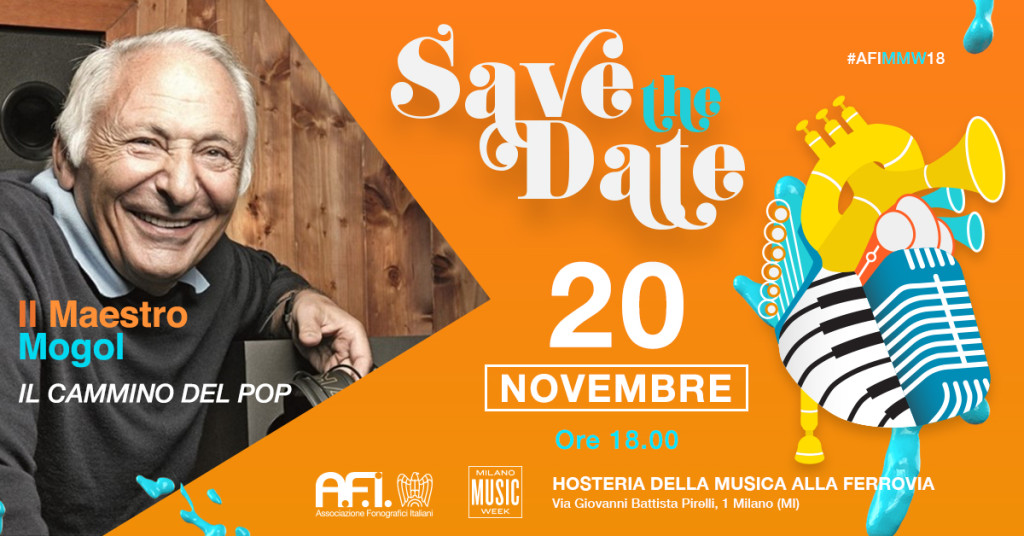 Milano Music Week 2018 – MOGOL OSPITE DELL'AFI